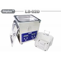 China Bentch Top Stainless Steel 2liter Ultrasonic Cleaner Bath Household Use Sterilize wholesale