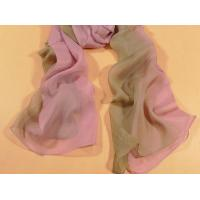 Buy cheap 2013 new fashion pink and grey gradient color Hand Painted Silk Scarf/ chiffon from wholesalers
