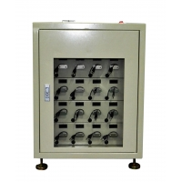 China 16 Unit Led Mining Headlamp Used Charging Rack With Clear Door And Digital Screen wholesale