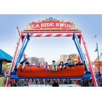 China Double Sided Pirate Ship Amusement Ride With Dynamic Music And Gorgeous Lights wholesale