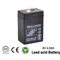 China 6v 4ah Rechargeable Emergency Light Lead acid battery for UPS , lighting on sale