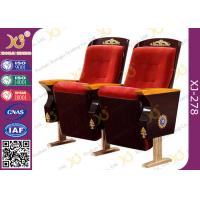 China Vintage Fixed Legs Church Hall Chairs With Handmade Religion Carving Pattern wholesale