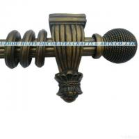 China 2011 Hot Selling Design Reeded Curtain Pole With Resin Finials wholesale