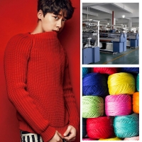 China Striped Flat Knit OEM ODM Mens Warm Sweaters Customized Cotton Pullover wholesale
