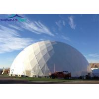 China 25m Fashion Portable Geodesic Dome Tents , Transparent Pvc Dome Tent for Outdoor Party Events wholesale