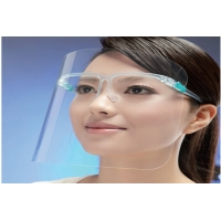 China 2020 Hot Sale Anti-Fog Transparent Protective Face Shield With Glassses Frame wholesale