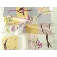 China Ladies 2013 Fashion  100% silk small Square Silk Scarf/pink and yellow scarves for women 53*53CM wholesale
