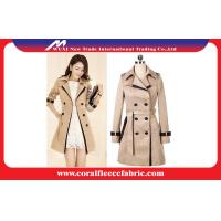 China Double Breasted Long Trench Jacket Womens Winter Outerwear , Waterproof wholesale