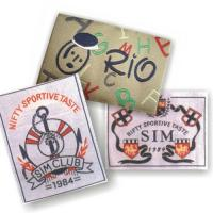 China Vintage Satin Clothing Labels / Custom Fabric Labels / Elegant T shirt Tags With Customized Logo wholesale