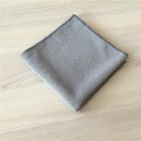 China Grey Microfiber Extra Thickness Pearl Cloth Car Cleaning Cloth 400gsm wholesale