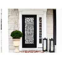 Buy cheap Durable Wrought Iron Glass Inlaid Door , Decorations Wrought Iron Interior Doors from wholesalers