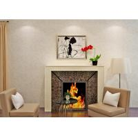 China Beige European Country Style Wallpaper Non Woven Paper Bedroom Wall Covering on sale