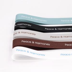 China Custom Printed Gift Packaging Ribbon , Double Faced Silk Satin Ribbon wholesale