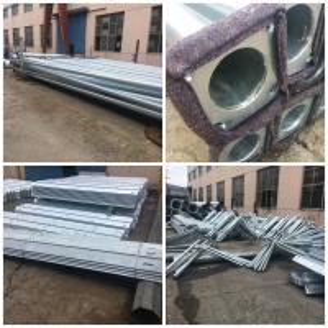 China hot dip galvanized solar power street light pole on sale