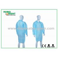 Gender Free Disposable Lab Coats with Zip Closure and Shirt Collar