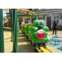 China Green Worm Shape Kiddie Roller Coaster For Large Parks And Tourist Attractions wholesale