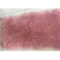 China Luxurious Purple Dyed Real Sheepskin Rug 2 X 4 Inch Warm For Cushions / Seat Covers on sale