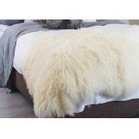 Quality Curly Hair Extra Large Mongolian Sheepskin Rug With Natural Tibet Lamb Skin for sale