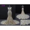 China Champange color sleeveless sheath mermaid wedding dress bridal gown wholesale