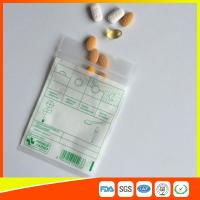 China Tablet Drug Packaging Ziplock Pill Bags , Medicine Plastic Bag With Zip Seal wholesale
