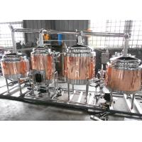 China Anti-Aging Electric Copper Beer Brewing Machine No Dead Corner Welding wholesale