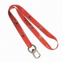 Buy cheap Lanyard with Bottle Opener, Customized Sizes are Welcome from wholesalers