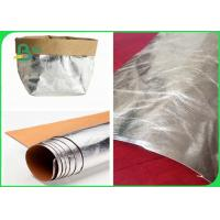 China Silver Kraft Paper Washable , Natural Fiber Pulp Brown Kraft Paper Eco Friendly on sale