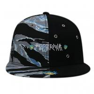 China Custom Chinese Style Flat Brim Snapback Hats / 6 Panel Camo Embroidered Snapback Hats wholesale