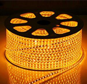 China LED Strips SMD5050 60pcs yellow color warterproof white double PCB 3M adhersive CE EMC wholesale