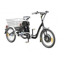 """China 22""""  Electric Adult Tricycles Black 3 Wheel Electric Trike With Rear Luggage Carrier wholesale"""
