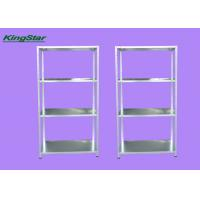Buy cheap Layered Steel Office Metal Rack Shelf With Steel Plates 45 Kg Capacity from wholesalers