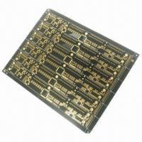 China 4-layered PCB with Black SM for Automobiles, 1/1/1/1oz Finished Copper wholesale
