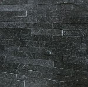 China Black Quartzite Stone Cladding,Black Quartzite Stacked Stone,Black Quartzite Culture Stone,Stone Veneer on sale