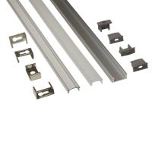 China Silver Matt Square / Round Anodized Aluminium LED Profiles For LED Frame wholesale