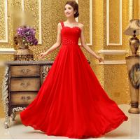 China Silk Chiffon One Shoulder Qipao Wedding Dress with sweetheart neckline wholesale