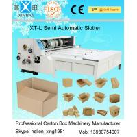 Chain Feeding Semi Automatic Die Cutting Machine , Carton Sheet With Pressure Plate