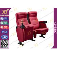 China Full Fabric Covered Cinema Theater Chairs For Home Theater With Cupholder wholesale