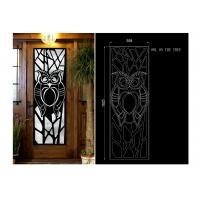 China fireproof  15.5*39.37 Iron Door With Glass , Square Steel Doors With Wrought Iron And Glass wholesale
