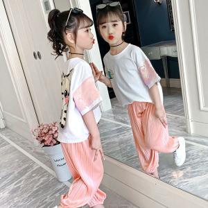 China 100cm 110cm Corduroy 2pcs Girls Casual Suit wholesale