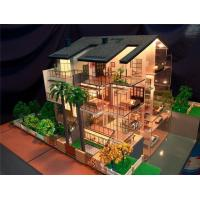 Miniature villa scale model with detail landscape 3d for 3d house model maker