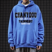 China 260gsm College Velvet Custom Embroidered Hoodies With Letters wholesale