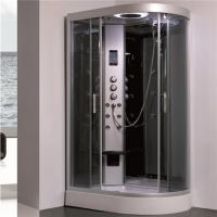 China All In One Shower Stall P Shaped Shower Enclosure With Sitting Tub Sanitary Ware wholesale