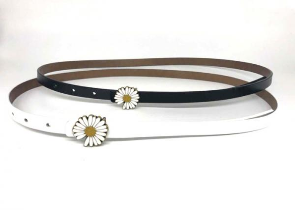 Quality Fashion Jeans 13mm Woman Metal Daisy Buckle Thin Belt for sale