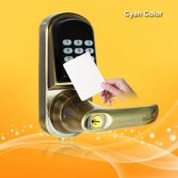 China Smart RFID Card Door Lock High Tech Technology With Voice Prompt Speaker wholesale