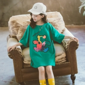 China Small quantity clothing factory Comfortable Fabric Cartoon Bear Print T Shirt Girls Tops 90cm To 130cm wholesale