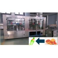 China 3 In 1 PET / PP / Glass Bottle Filling Machine line For Fresh Fruit Plant on sale