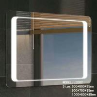China Stainless Frame Hotel Bathroom Mirror With Radio ,  Magnifying Custom Backlit Mirror on sale