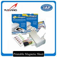 China White Printable Flexible Magnetic Sheet Glossy Surface Finishing Self Adhesive wholesale