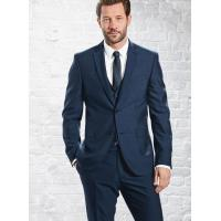Buy cheap Mens 3 Piece Suits with Single Back Vent / Customized Blue Formal Wear from wholesalers