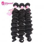 China Loose Deep Wave Real Brazilian Hair Bundles , Curly Human Hair Weave wholesale